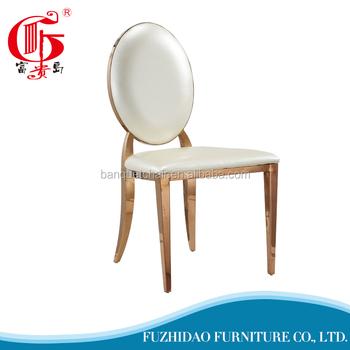 modern luxury stainless steel dining chair for wedding designer furniture