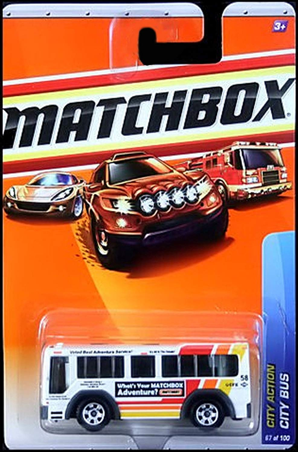 Matchbox 2010 City Action 67 of 100 City Bus (White)