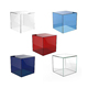 custom colorful acrylic box clear acrylic case for jewelry cosmetics makeup donation box high quality acrylic
