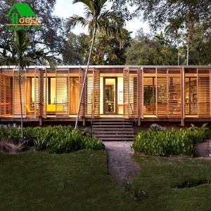 Villa Use and Wooden Log Material Prefab Houses