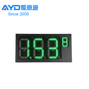 RF Remote Control Outdoor Usage and 10mm Pixels Gas Price Billboard for Fuel Station