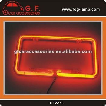 Auto NEON License Plate Frame For U.S.A MEXICO Cars