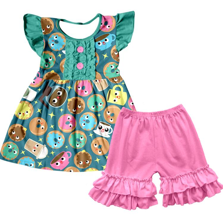 916d183407f Groothandel Kinderkleding Boutique Outfits Meisjes Ruche Sets Baby set  kinderkleding