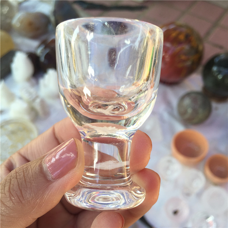 Hand Carved Natural Clear Quartz Crystal Small Tass Cups for Gifts