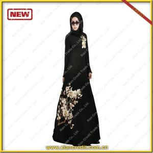 Wholesale Fashion Islamic Clothing Ladies Kaftan Dresses Maxi Modern Abaya 2017 with embroidery patch