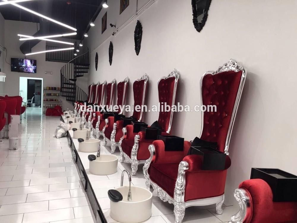 luxury nail salon equipment pedicure chair platform with basin, View ...