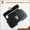 Newest design 4.7 inch metal button phone pouch bag flip pu leather mobile phone pouch with velcro