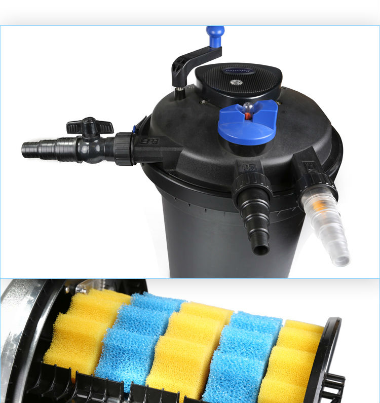 Sunsun external koi pond filter system with uv light bio for Koi carp pond filter systems