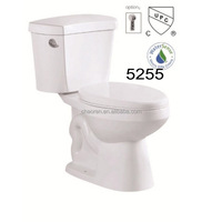 American standard UPC dual flush Elongated two piece toilet size