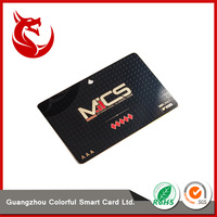 Gold foil business black metal vip card with many crafts