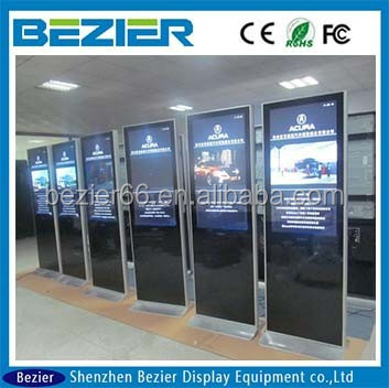 42 inch indoor outdoor lcd display totem advertising display for super market