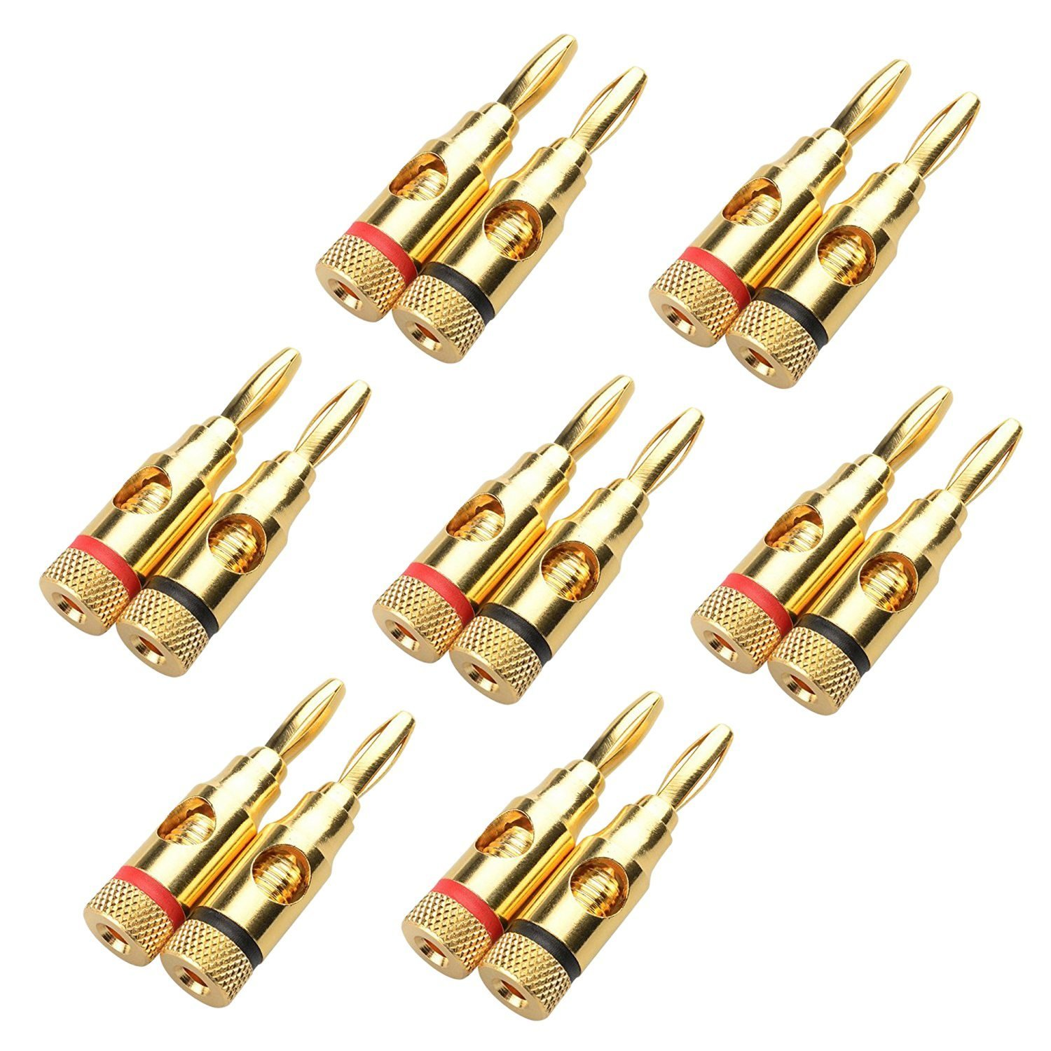 SODIAL(R) 7 Pairs, Open Screw Banana Plugs for Speaker Cable