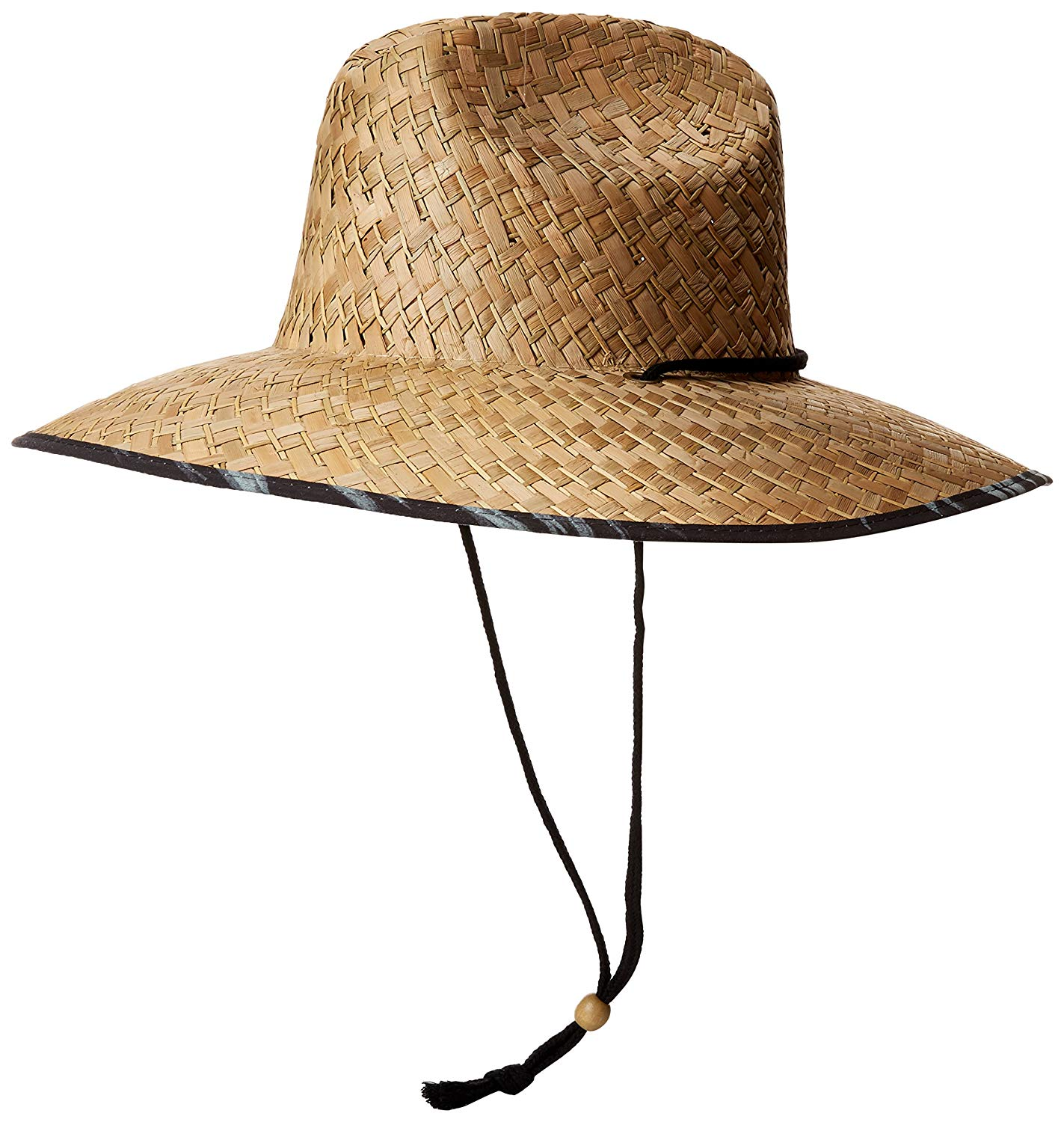 d771237cf9741 Get Quotations · San Diego Hat CO. Men s Straw Lifeguard Hat With  Adjustabel Chin Cord