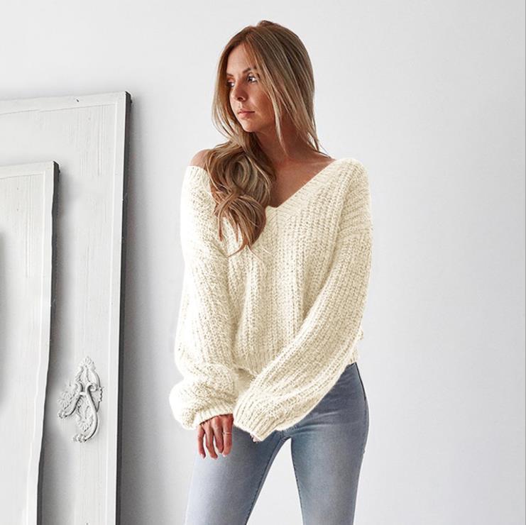 Venta Al Por Mayor Sweater Fashion De Lana Mujer-Compre