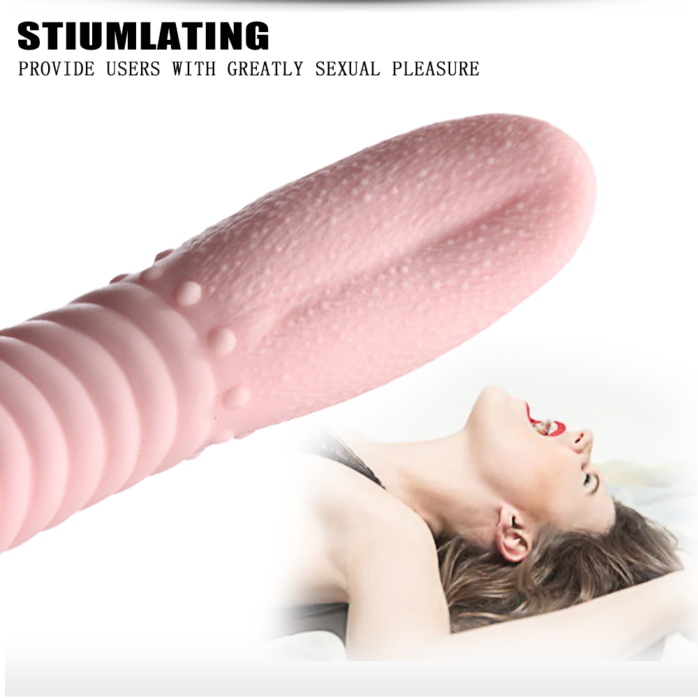Silicone Tongue Sex Toys Vibrator Women Clit Massager