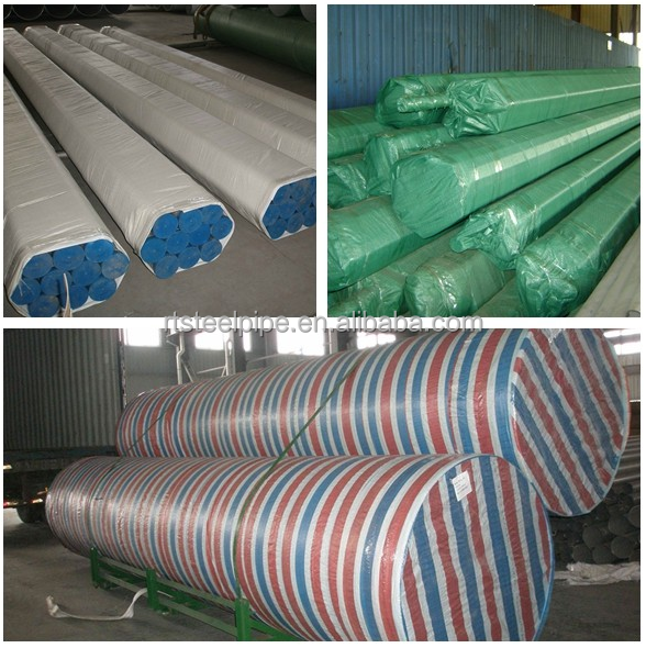 ASTM A53 A500 BS1387 Grade B carbon steel pipe with galvanized, China
