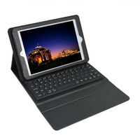 PU Leather Cover + Silicone Keyboard for iPad 2 3 4 Bluetooth Keyboard Case