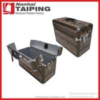 Leopard PVC Leather Top Open design Ladies Briefcases Uk Small Metal Briefcase Ladies Briefcase