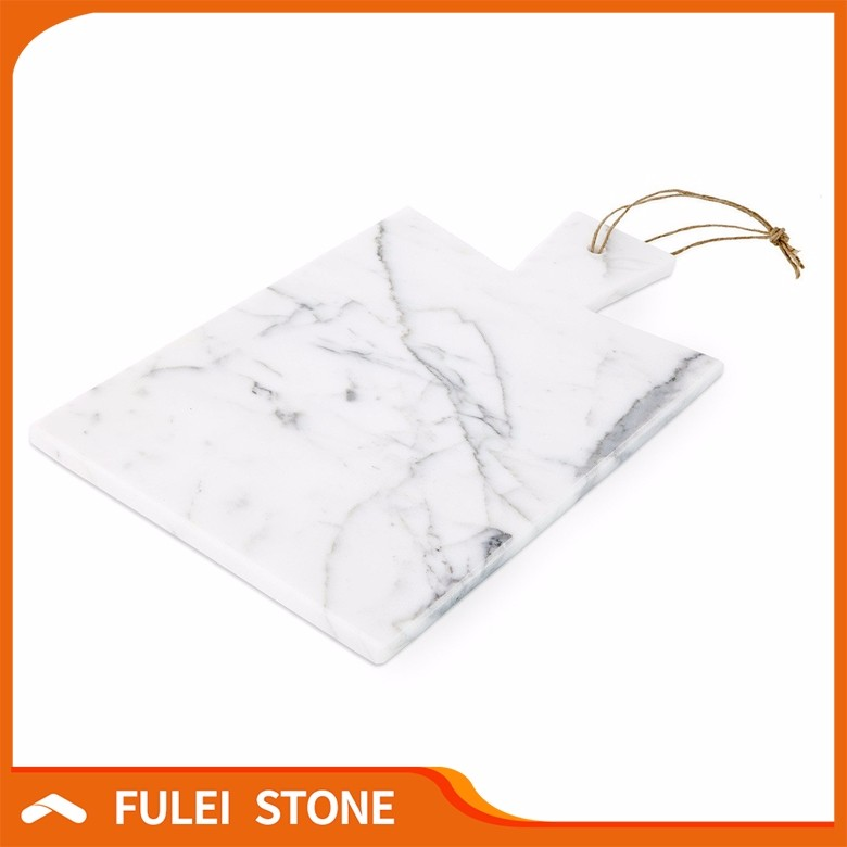 Hot Sale White Marble Cutting Chopping Board