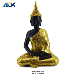 Table Decor Thailand Blessing Buddha Statue Garden Resin Used Buddha
