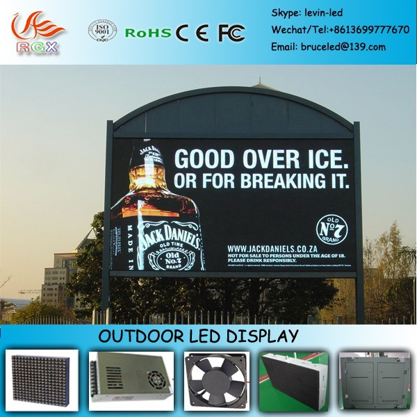RGX I69 cheap price!!!!! P10/P16/p18/p22P20/25/mm outdoor advertising led display screen, led display full color video billboard