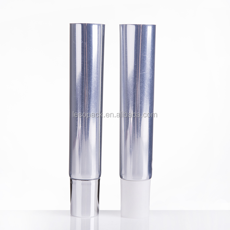 Hot Selling 40ml 25mm diameter Shiny Silver ABL cylinder tube with screw cap eye cream lotion packaging