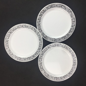 Hollowed-out Lace Hard Plastic Dinner Plates in PS material & Hollowed-out Lace Hard Plastic Dinner Plates In Ps Material - Buy ...