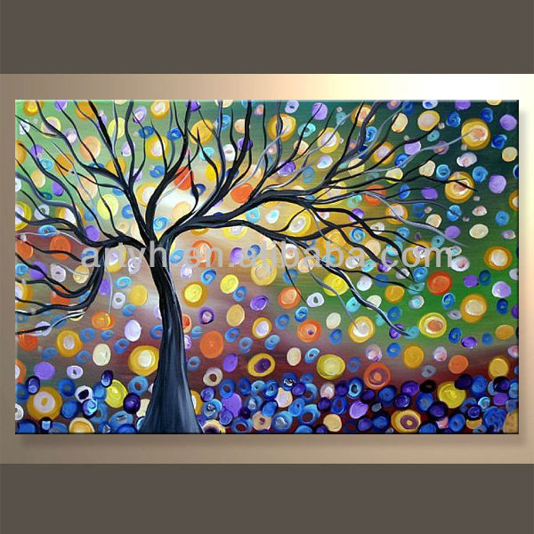 Main pas cher arbre de la vie toile peinture peinture et - Toile pas cher peinture ...