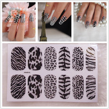 Y031 Hot 2015 Leopard Designs Toe Nail Art Polish Stickers For nail