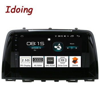 "Idoing 9"" IPS 2.5D 4GB+64GB 1Din Android8.0 Car Radio Multimedia GPS Player For Mazda cx-5 2013-2015 Octa Core GPS Navigation TV"