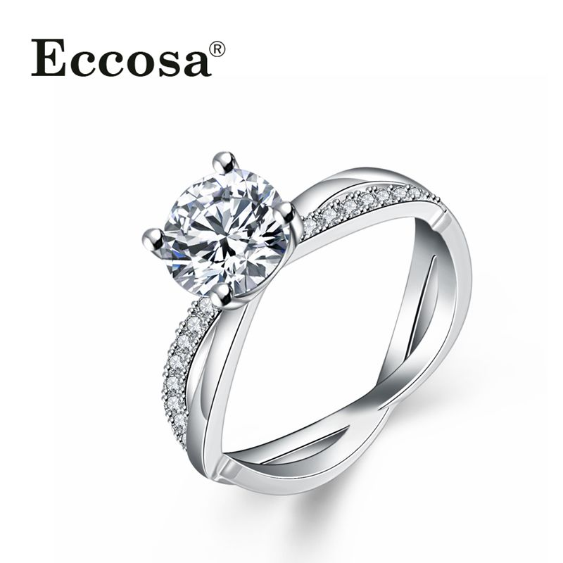 High quality long time keep color exquisite platinum plating women ring