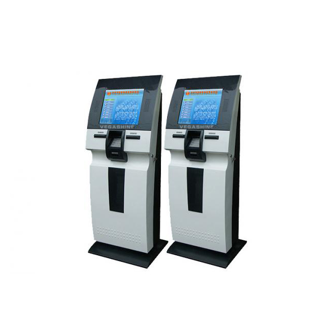 OEM Self-service terminal multi self service payment hospital health kiosk with card reader and A4 printer , fingerprint scanner