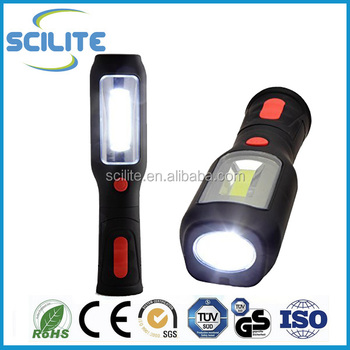 New Cob 1w Led Inspection Lamp Work Light Hand Torch Rechargeable ...
