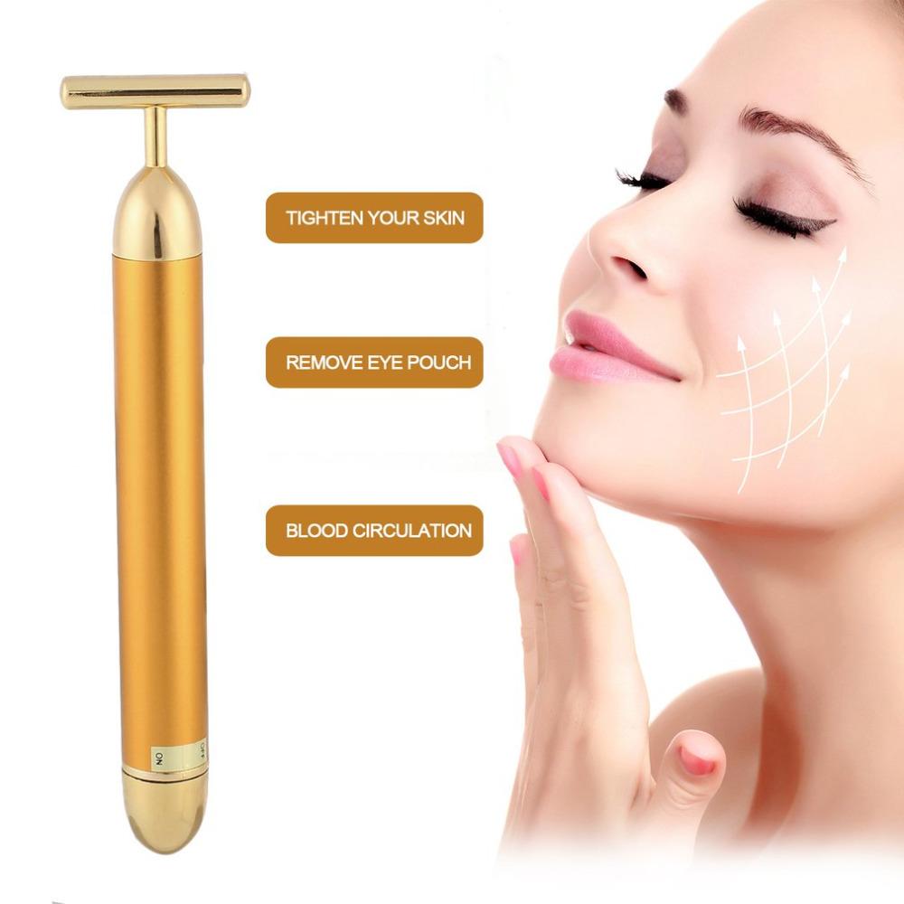 24k Gold Beauty Bar Anti Wrinkles Electric Facial Massage - Buy Vibrating  Facial Massager,Infrared Facial Massager,Ultrasonic Facial Massager Product