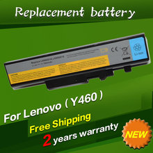Black and White Laptop Battery For Lenovo Y460G Y460N Y460N-IFI Y460N-ITH Y460N-PSI Y460P-IFI Y460P-ISE Y460P-ITH Y560A-IFI