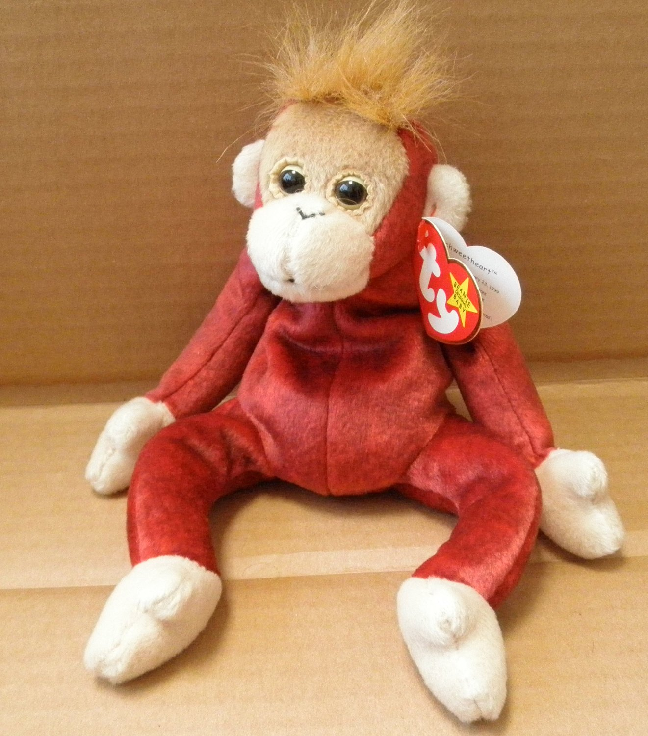 8cb3702d9ba TY Beanie Babies Schweetheart the Monkey Stuffed Animal Plush Toy - 8 inches  tall