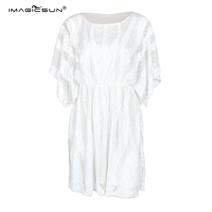 Hot sale fashion women elastic band mini dress sexy summer Short sleeve sequined beaded women dresses