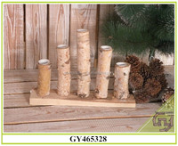 Natural birch wooden candle holder/ home decoration