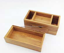 bamboo wood small file storage cabinet