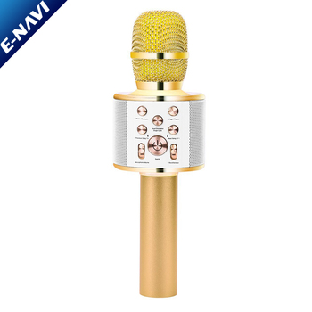 Promotional Gifts Mini Wireless USB Karaoke Studio Microphone Speaker For Home KTV Party