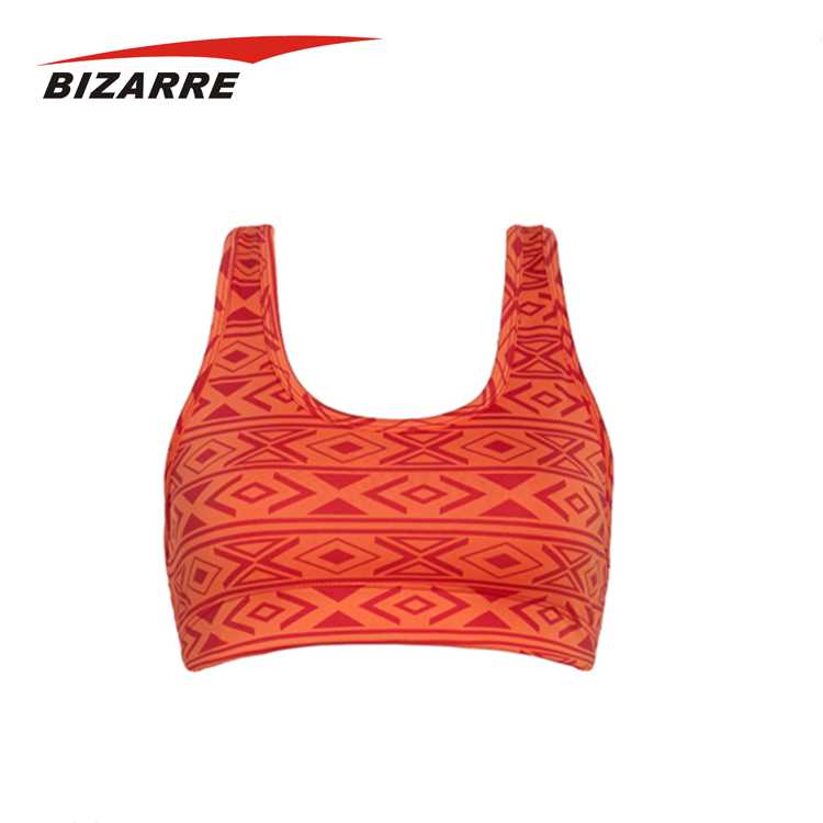 Customizing Measurements Dry Fit Print Sports Bra For Sporty