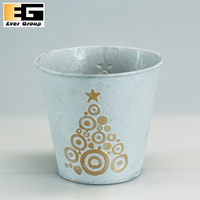 2017 new design christmas tree flower pots,christmas decorations outdoor