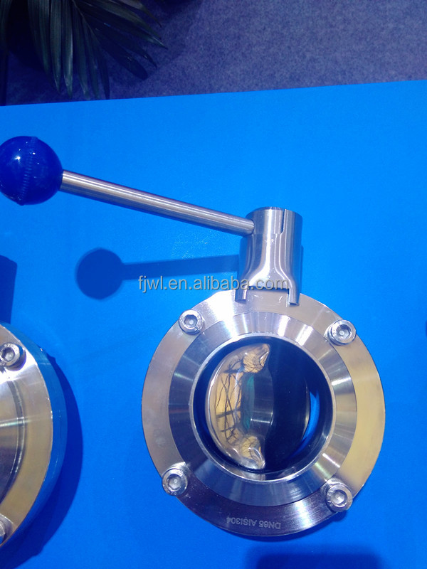 Sanitary Stainless Steel TC end Butterfly Valve