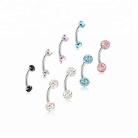 16G Stainless Steel Eyebrow Ring Lip Ring Body Piercing Jewelry