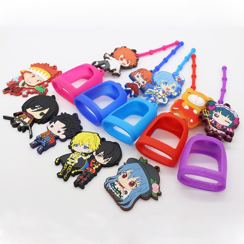 Holiday gift 3D cartoon protection customizable antibacterial silicone hand sanitizer holder