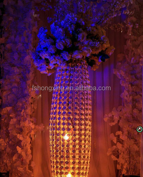 2017 New Design Walkway Pillar For Wedding Stage Decoration Flower Stand Centerpieces