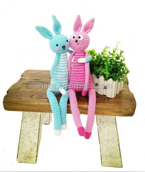 Happy Bunny 100% cotton yarn crochet kit for DIY