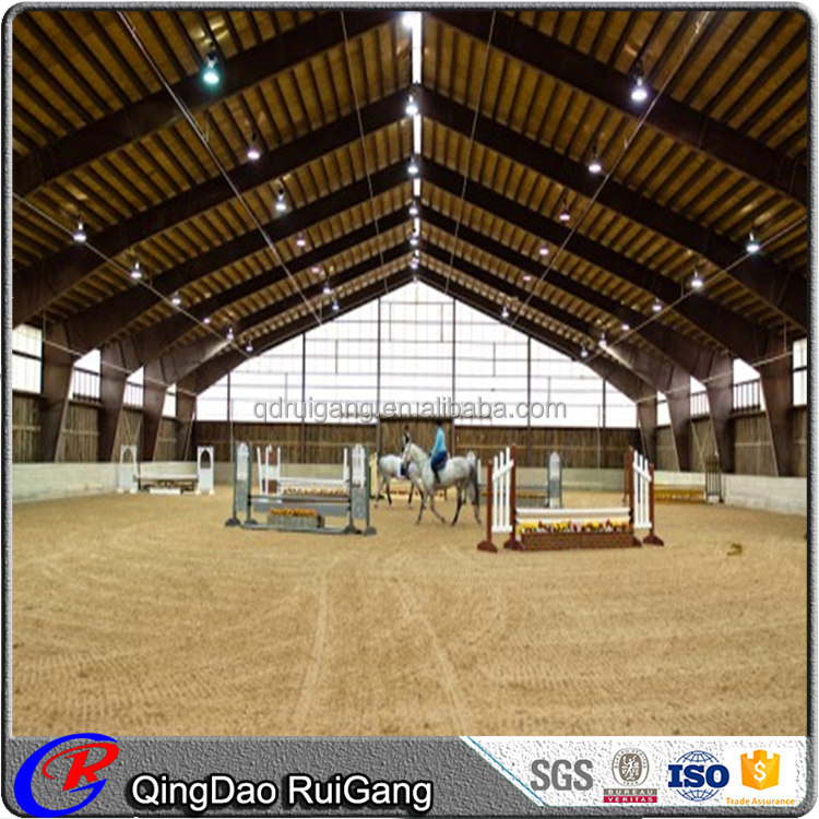 Fast Build prefab frame steel structure building Cattle Horse Shed Horse Riding Arena