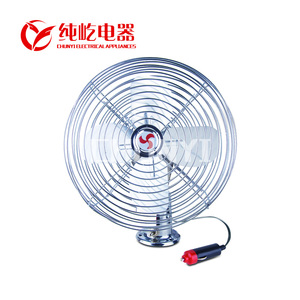 DC FAN Car auto oscillating aluminum blade metal fan 24v 12v car fans for car