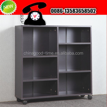 Wooden Movable Book Shelf With Wheels View Good Time Product Details From Shouguang Industry And Trading Co